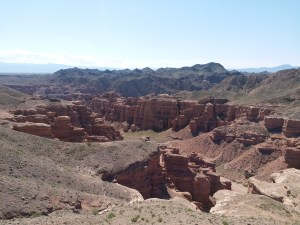 K in Motion Travel Blog. Almaty Kazakhstan. Looking Down into Charyn Canyon