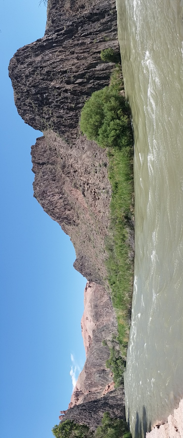 K in Motion Travel Blog. Almaty Region Kazakhstan. Charyn River at the end of Charyn Canyon