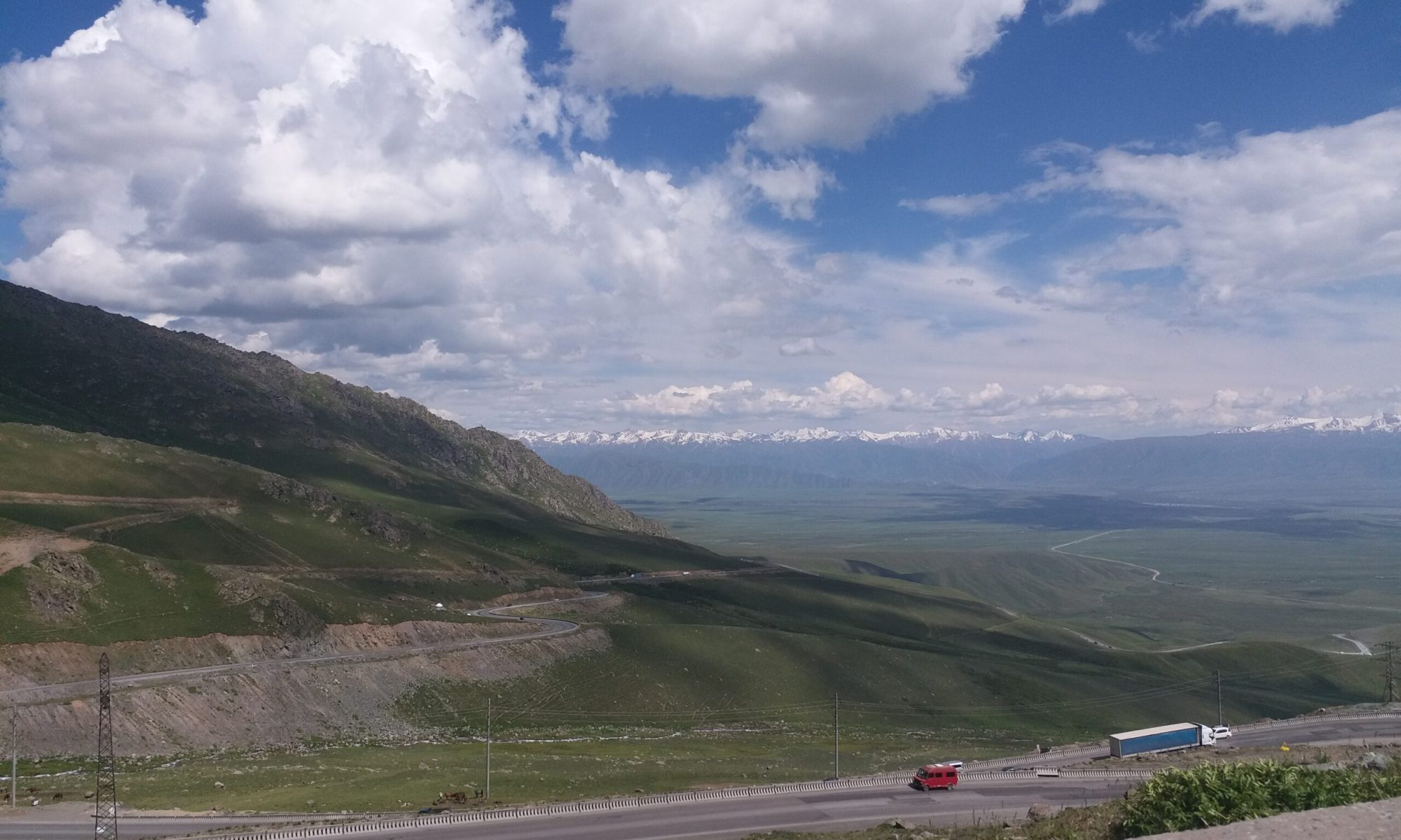 K in Motion Travel Blog. Silk Road to Western Kyrgyzstan. View from the Silk Road