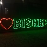 K in Motion Travel Blog. Things to Know About Kyrgyzstan. I Love Bishkek Sign