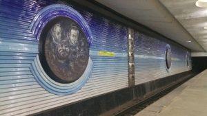 K in Motion Travel Blog. Underrated Uzbekistan. Tashkent Metro Station Decorations. Male Cosmonauts