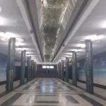 K in Motion Travel Blog. Underrated Uzbekistan. Tashkent Metro Station Decorations. Columns and Lights