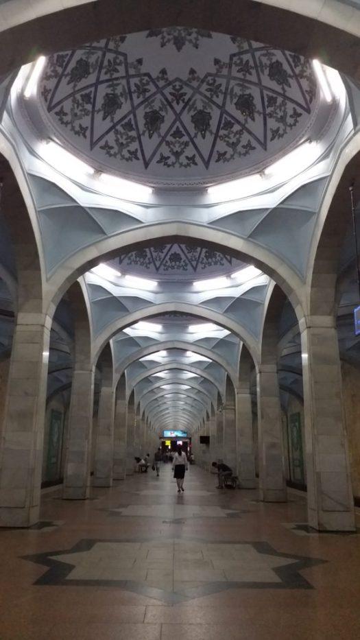 K in Motion Travel Blog. Underrated Uzbekistan. Tashkent Metro Station Decorations. Mosque Like Ceilings