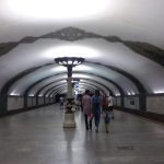 K in Motion Travel Blog. Underrated Uzbekistan. Tashkent Metro Station Decorations. Ornate Light Pole