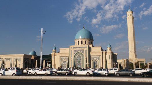 K in Motion Travel Blog. Underrated Uzbekistan. Mosque at Prayer Time