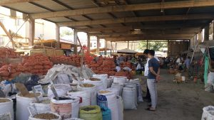 K in Motion Travel Blog. Tajikistan. Back of the Market in Khujand