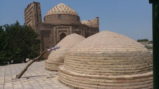 K in Motion Travel Blog. Travel to Turkmenistan - Frontier to Fire. Sultan Ali Mausoleum in Kunya-Urgench