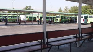 K in Motion Travel Blog. Travel to Turkmenistan - Overly Impressive Capital to Caspian Sea Port. Ashgabat. Teke Bazaar Bus Terminal