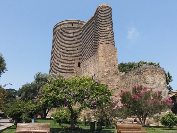 K in Motion Travel Blog. Beautiful Baku. Old Town. Maiden Tower