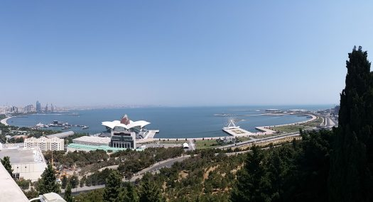 K in Motion Travel Blog. Beautiful Baku. View Before the Top of the Hill