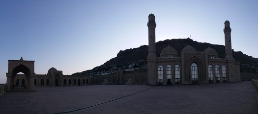 K in Motion Travel Blog. Beautiful Baku. Bibi-Heybat Mosque From the Side