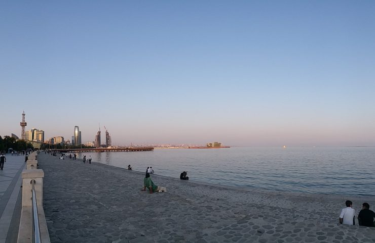 K in Motion Travel Blog. Beautiful Baku. Denizkenari Milli Park On The Caspian Sea