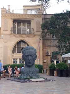 K in Motion Travel Blog. 9 Fun Things to do in Baku. Head popping out of the Ground