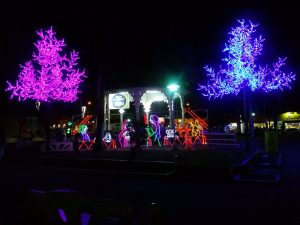 K in Motion Travel Blog. Mountain Adventures in Costa Rica. Festive Town Square in Liberia