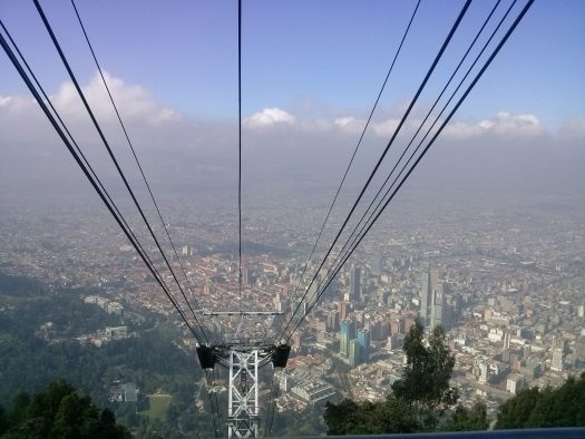 K in Motion Travel Blog. Contemporary Colombia and its Colourful Cities. Cable Car up to Monserrate