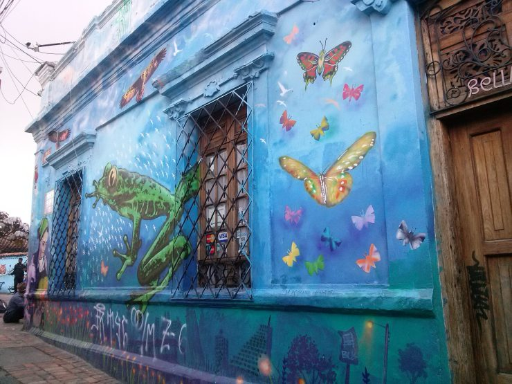K in Motion Travel Blog. Contemporary Colombia Street Art. Bogota La Candelaria Mural