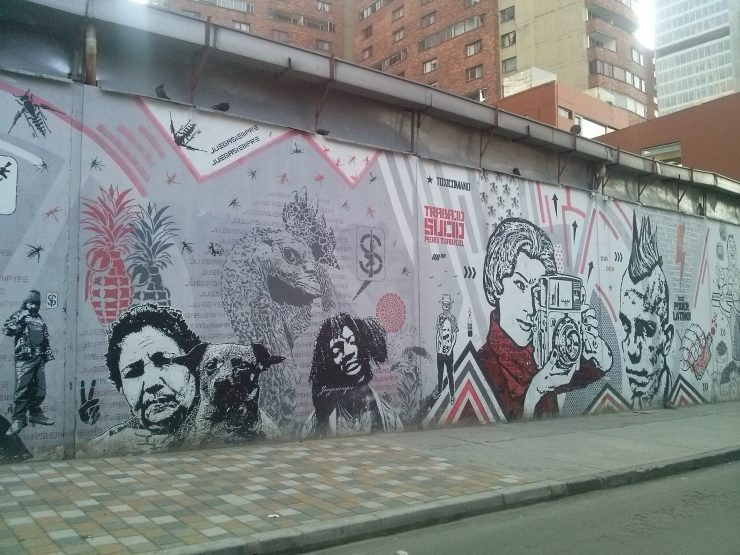 K in Motion Travel Blog. Contemporary Colombia Street Art. Bogota Political Mural