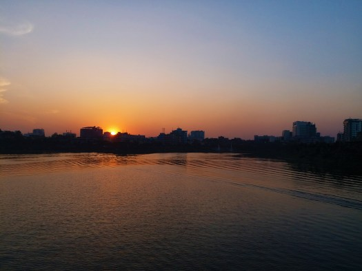 K in Motion Travel Blog. Hospitality in Bangladesh. River Sunset