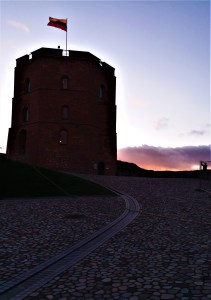 K in Motion Travel Blog. Old World Charm of Vilnius. Path to the Gediminas Castle Tower