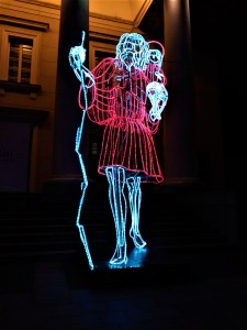 K in Motion Travel Blog. Old World Charm of Vilnius. Light Art