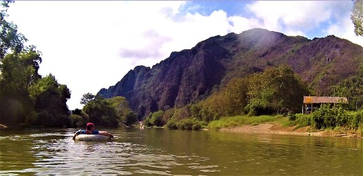 K in Motion Travel Blog. Amazingly Unique Adventures Around the World. Tubing on the Nam Song River in Vang Vieng