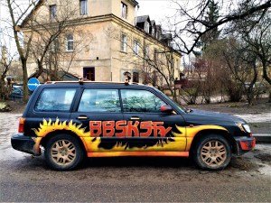 K in Motion Travel Blog. Free Things to do in Vilnius. Car Art