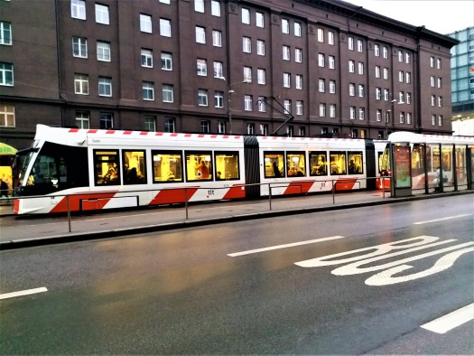 K in Motion Travel Blog. Discover Old and New Tallinn. Modern Tram