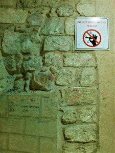 K in Motion Travel Blog. Amusingly Funny Signs Around the World. Israel Writing on the Wall