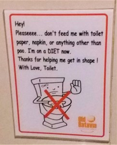 K in Motion Travel Blog. Amusingly Funny Signs Around the World. Toilet Diet Jakarta