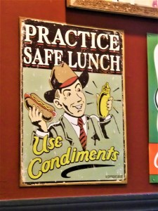 K in Motion Travel Blog. Amusingly Funny signs Around the World. Practice Safe Lunch Sign Chicago, USA