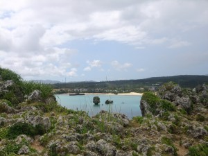 K in Motion Travel Blog. Scenic Cruise to Okinawa. Rocks in the Sea