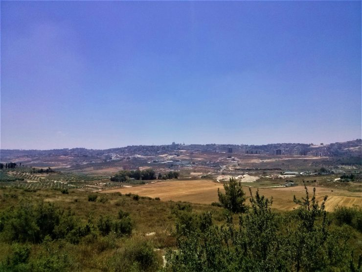K in Motion Travel Blog. Religious Sites and Nature of Northern Israel. Farming Settlement in the Distance