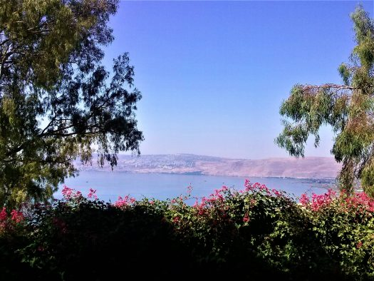 K in Motion Travel Blog. Religious Sites and Nature of Northern Israel. View of the Sea of Galilee from Mount Beatitudes