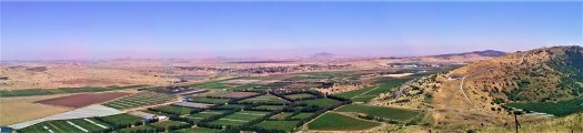 K in Motion Travel Blog. Historic and Natural Places to See in Northern Israel.. View From Mount Bentai