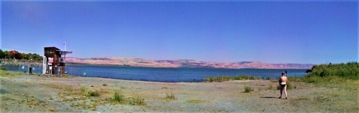K in Motion Travel Blog. Religious Sites and Nature of Northern Israel. Sea of Galilee Shore