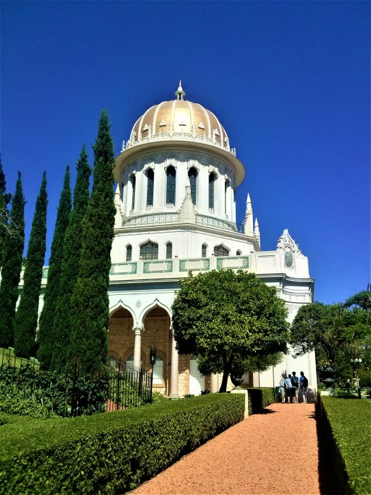 K in Motion Travel Blog. Historic and Natural Places to See in Northern Israel. Place of Worship at Baha'i Gardens