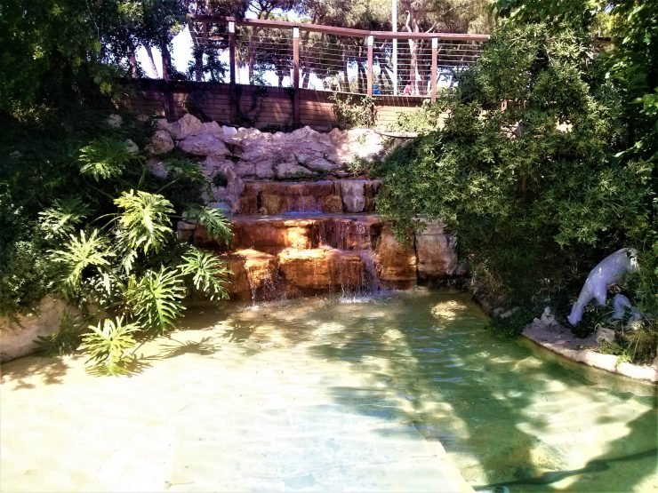 K in Motion Travel Blog. Historic and Natural Places to See in Northern Israel. Waterfall at Baha'i Gardens