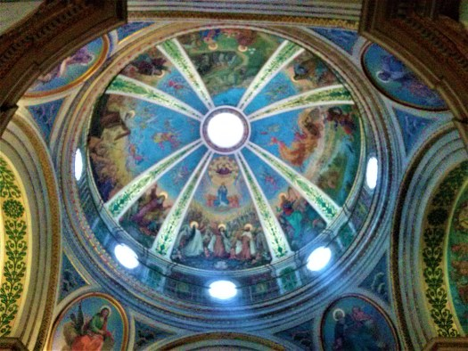 K in Motion Travel Blog. Historic and Natural Places to See in Northern Israel. Monastery Ceiling
