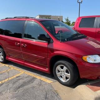 side of red van