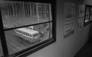 レールバス野辺地駅跨線橋から