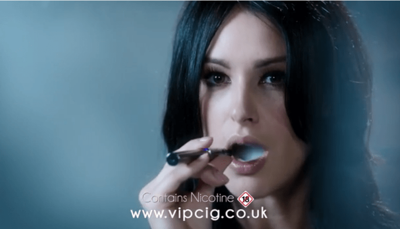"""""""Sexy"""" VIP e-cig the first to vape in British TV advert"""
