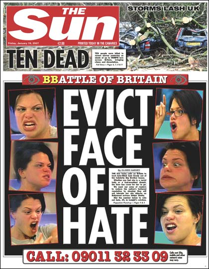 Face of hate