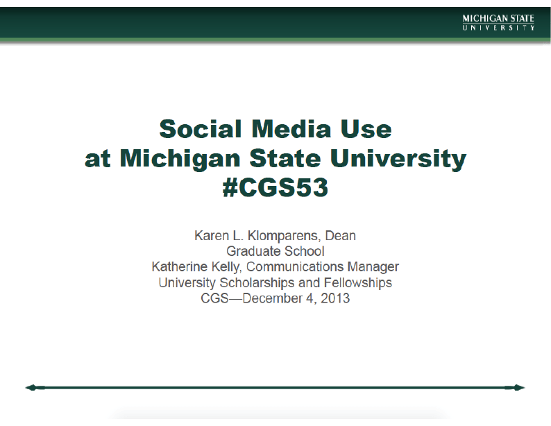 CGS Annual Meeting – Social Media Presentation