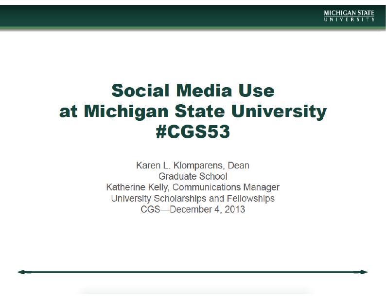 CGS Annual Meeting – Social Media Presentation