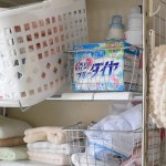 セリアの フタが立つ容器 に 洗濯用粉洗剤! 快適です♪