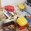 リビングに子供収納スペースをオープンラックで♪