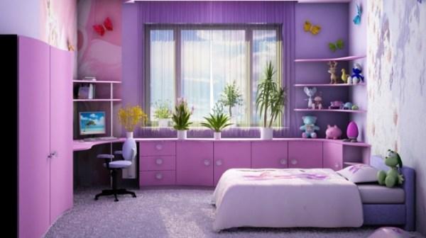 Дизайн детской комнаты для девочки, фото интерьера.
