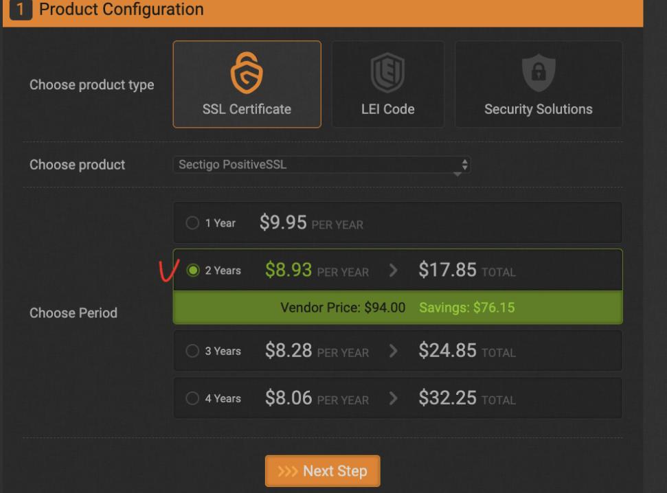 SSL 보안인증서 갱신 - Gogetssl.com 이용2