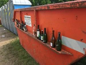 Mülltrennung in der Camp Area