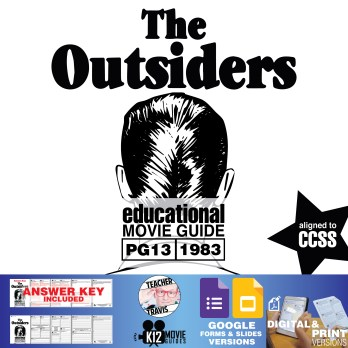 The Outsiders Movie Guide | Questions | Worksheet (PG13 - 1983) Cover